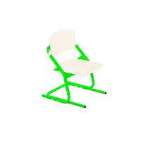 Растишка стул ученический белый с зелеными ножками (цвет на выбор)