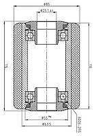 Ролик для гидравлической тележки 174 VKS/85/110/115/25