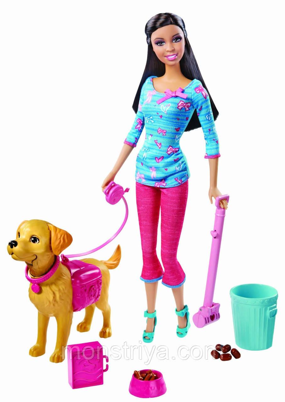 Кукла Barbie Potty Training Taffy Барби гуляет с собакой серия Уход за питомцами Mattel Оригинал. Киев.