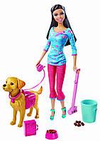 Кукла Barbie Potty Training Taffy Барби гуляет с собакой серия Уход за питомцами Mattel Оригинал. Киев., фото 1