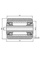 Ролик для гидравлической тележки 174 VKS/85/105/110/13