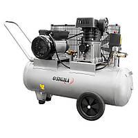 Компрессор ременной двухцилиндровый 380 В 4 кВт 678 л/мин 10 бар 100 л Sigma (7044521)