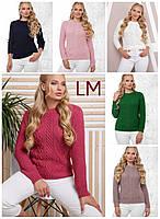 48-54 р Красивый свитер 88151 женский весенний повседневный зимний осенний теплый ажурный однотонный с узором