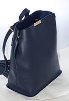 Женская сумка-рюкзак, синяя