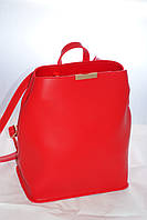 Женская сумка-рюкзак, красная