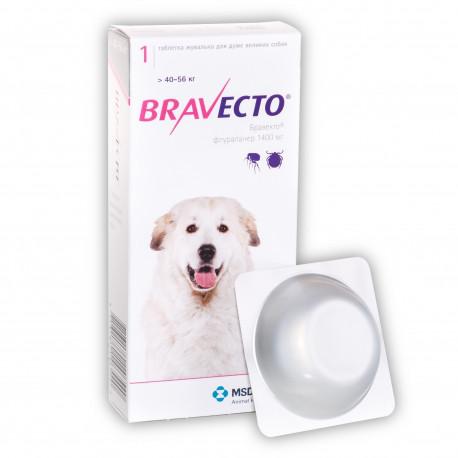 Bravecto 40-56кг (таблетки от блох и клещей)