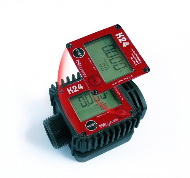 Электронный счетчик учета K24 (PIUSI) для ДТ, бензина. 7-120 л/мин
