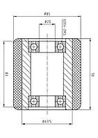 Ролик для гидравлической тележки 85/090/083/20