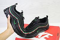 Женские кроссовки Nike Air Max 97 черные  (Реплика ААА+), фото 1
