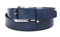 Кожаный синий ремень DK, фото 1