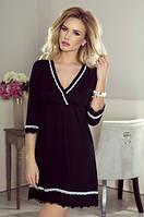 Женская ночная рубашка черного цвета. Модель Lea Eldar.
