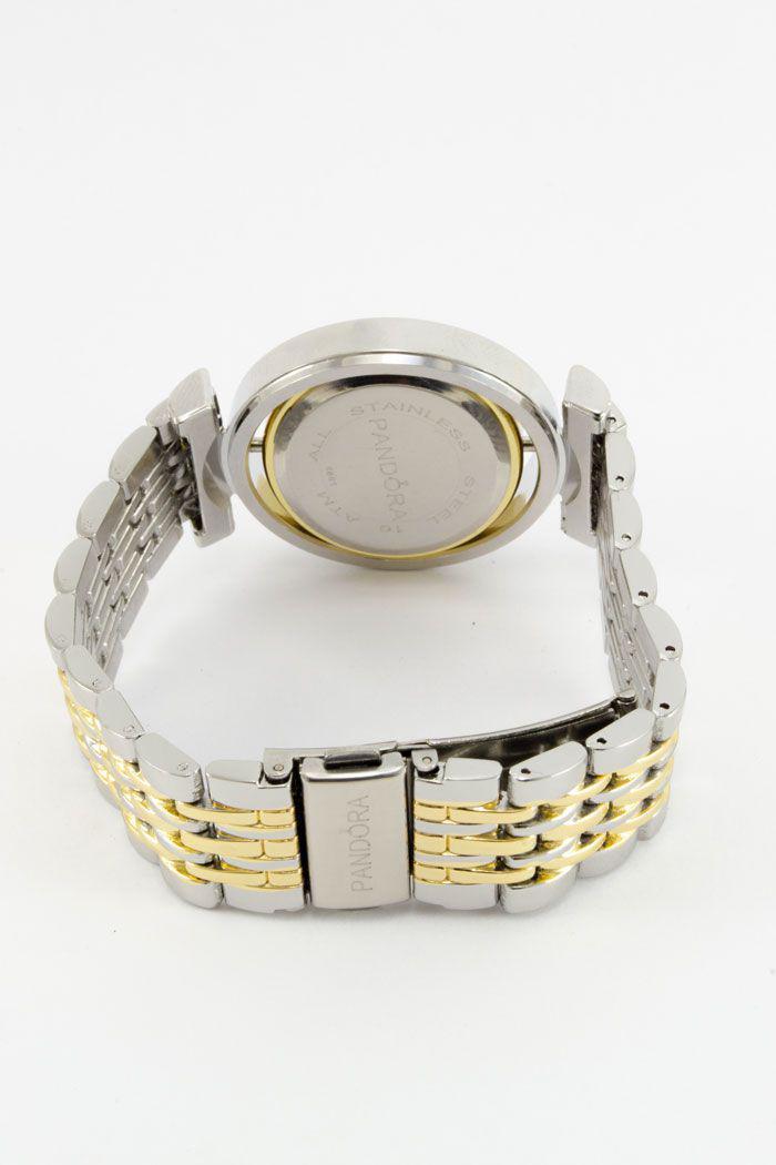 947cb069bc83 Женские наручные часы Pandora (Пандора), серебристо - золотой корпус и  белый циферблат, ...