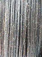Однотонные стальные шторы нити (кисея) с люрексовой нитью, фото 1