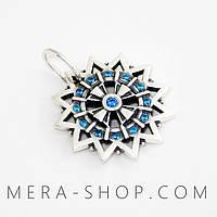 Двухсторонняя Звезда Эрцгаммы в камнях (серебро 925 пробы)