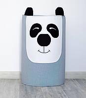 Вместительная корзина для игрушек «Панда»