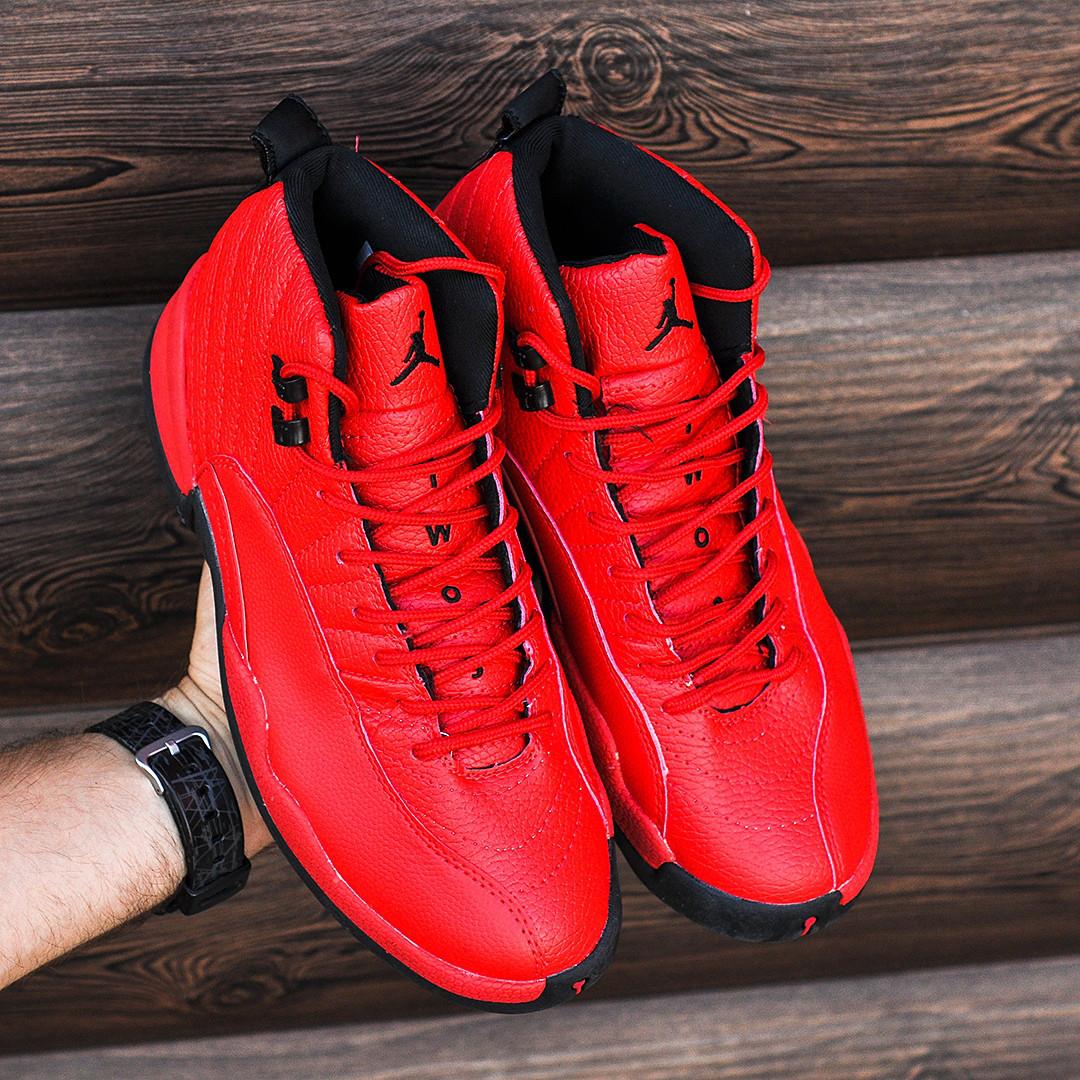 Мужские Кроссовки в стиле Nike Air Jordan 12 Retro Red