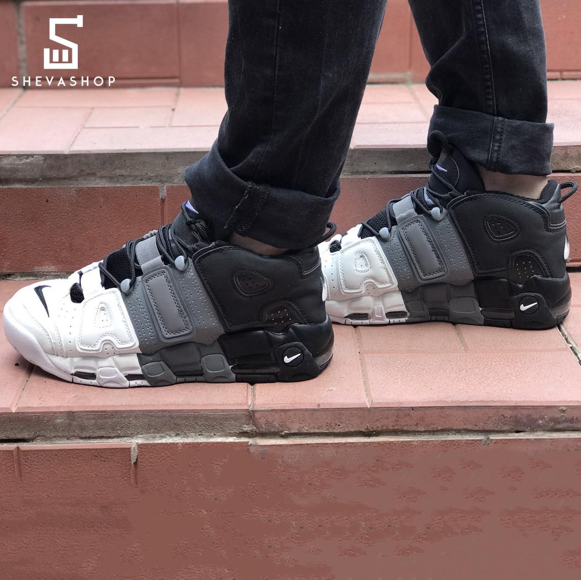 93d954ee Мужские кроссовки N*ke Upt*mpo серо-чёрные с белым (копия) - купить ...