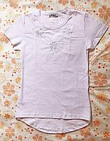 Блуза трикотажная для девочки с коротким рукавом