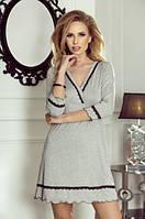 Женская ночная рубашка серого цвета. Модель Lea Eldar.