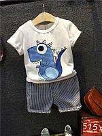 Костюм летний хлопковый для мальчика футболка и шорты
