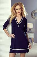 Женская ночная рубашка темно-синего цвета. Модель Lea Eldar.