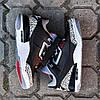 Мужские Кроссовки  в стиле Nike Air Jordan 3 black and white, фото 3