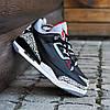 Мужские Кроссовки  в стиле Nike Air Jordan 3 black and white, фото 2