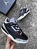 Мужские Кроссовки  в стиле Nike Air Jordan 3 black and white, фото 7