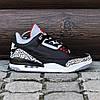 Мужские Кроссовки  в стиле Nike Air Jordan 3 black and white, фото 8