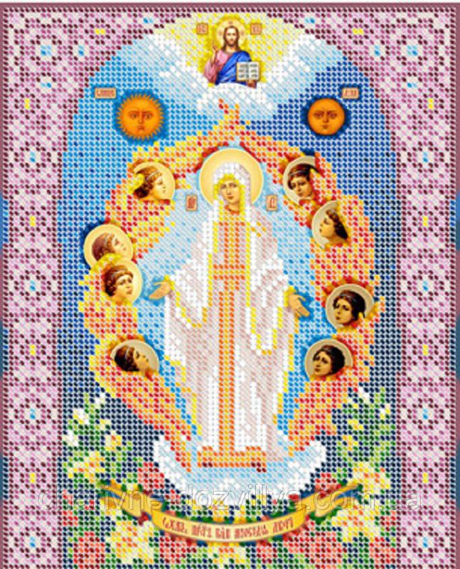 """Схема для вышивки бисером на габардине икона """"Богородица Милосердия двери"""""""