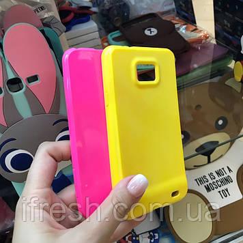 Чехол силиконовый для Samsung Galaxy S2, розовый