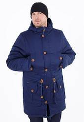 Зимова куртка парку чоловічий від виробника 44-54 синій