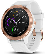 Смарт-годинник Garmin Vivoactive 3 White with Rose Gold Hardware, фото 3