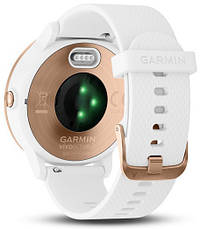 Смарт-годинник Garmin Vivoactive 3 White with Rose Gold Hardware, фото 2