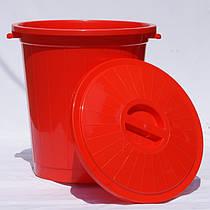 Мусорный бак 70 л Красный