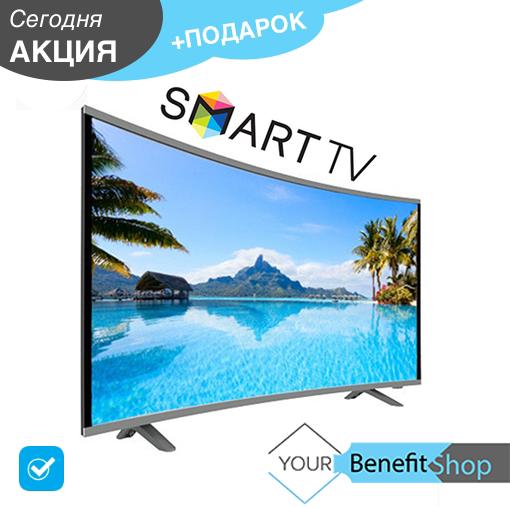 "Плазменный Smart LCD LED Телевизор JPE 39"" DU1000  Изогнутый / T2 / USB / HDMI / VGA / Умный телевизор"