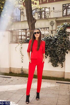 Красный деловой костюм женский, фото 2