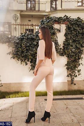 Бежевый костюм женский, фото 2