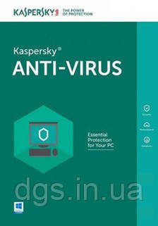 Kaspersky Anti-Virus 3 ПК 1 рік електронна ліцензія