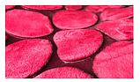 Плюшевый коврик «Галька» бордовый 40×60 см, фото 2