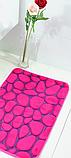 Плюшевый коврик «Галька» бордовый 40×60 см, фото 4