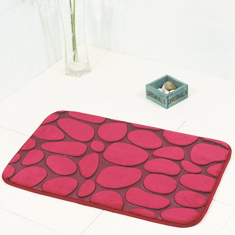 Плюшевый коврик «Галька» бордовый 40×60 см