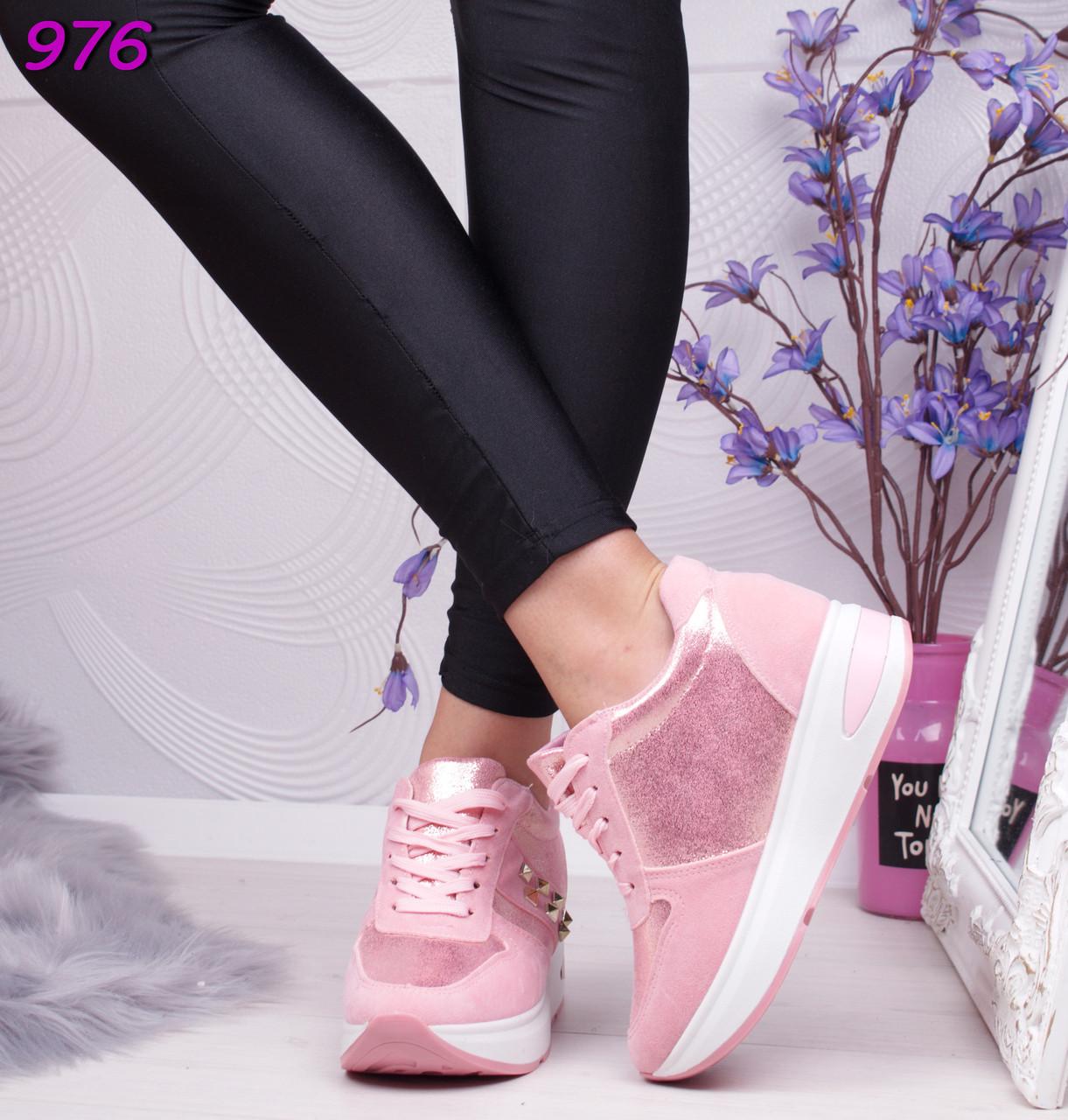 e2b26c66 Стильные женские розовые кроссовки на платформе - bonny-style в Днепре