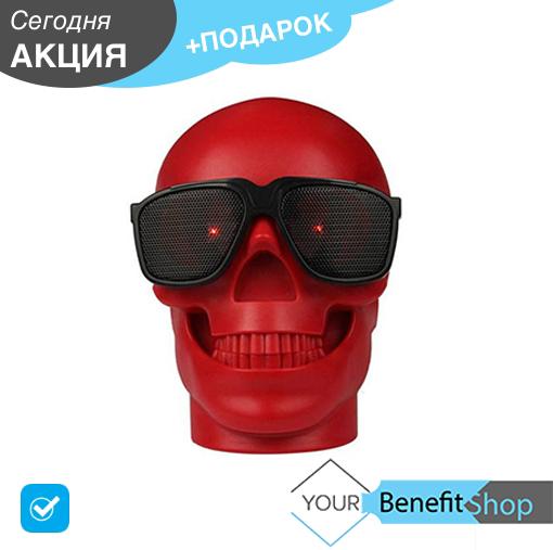 Портативная беспроводная bluetooth блютуз колонка Skull CH-M29 Black череп