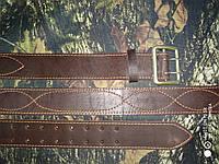 Ремень офицерский кожаный оптом коричневыый, №0 100см