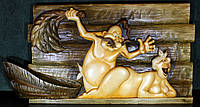 """Резная картина из дерева """"В бане"""", фото 1"""