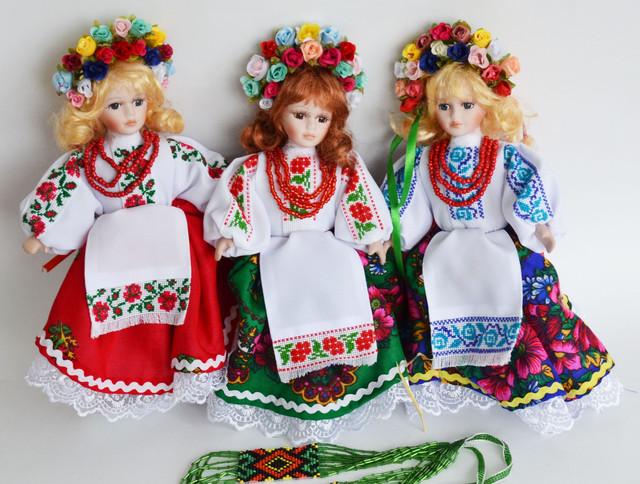 фарфоровые куклы-украинки