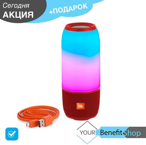 Портативная беспроводная колонка JBL Pulse 3 | Со светомузыкой | Встроенный Power Bank|Bluetooth колонка Пульс
