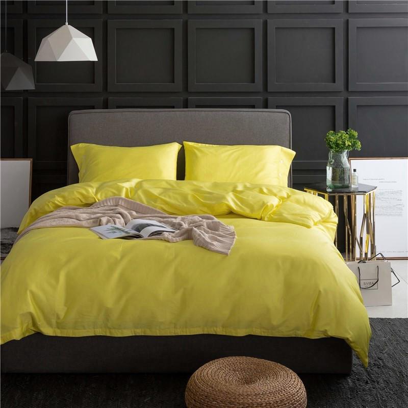 Постельное белье Однотонный лимонный поплин ТМ Царский дом  (Евро)
