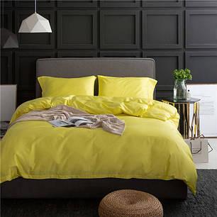 Постельное белье Однотонный лимонный поплин ТМ Царский дом  (Евро), фото 2